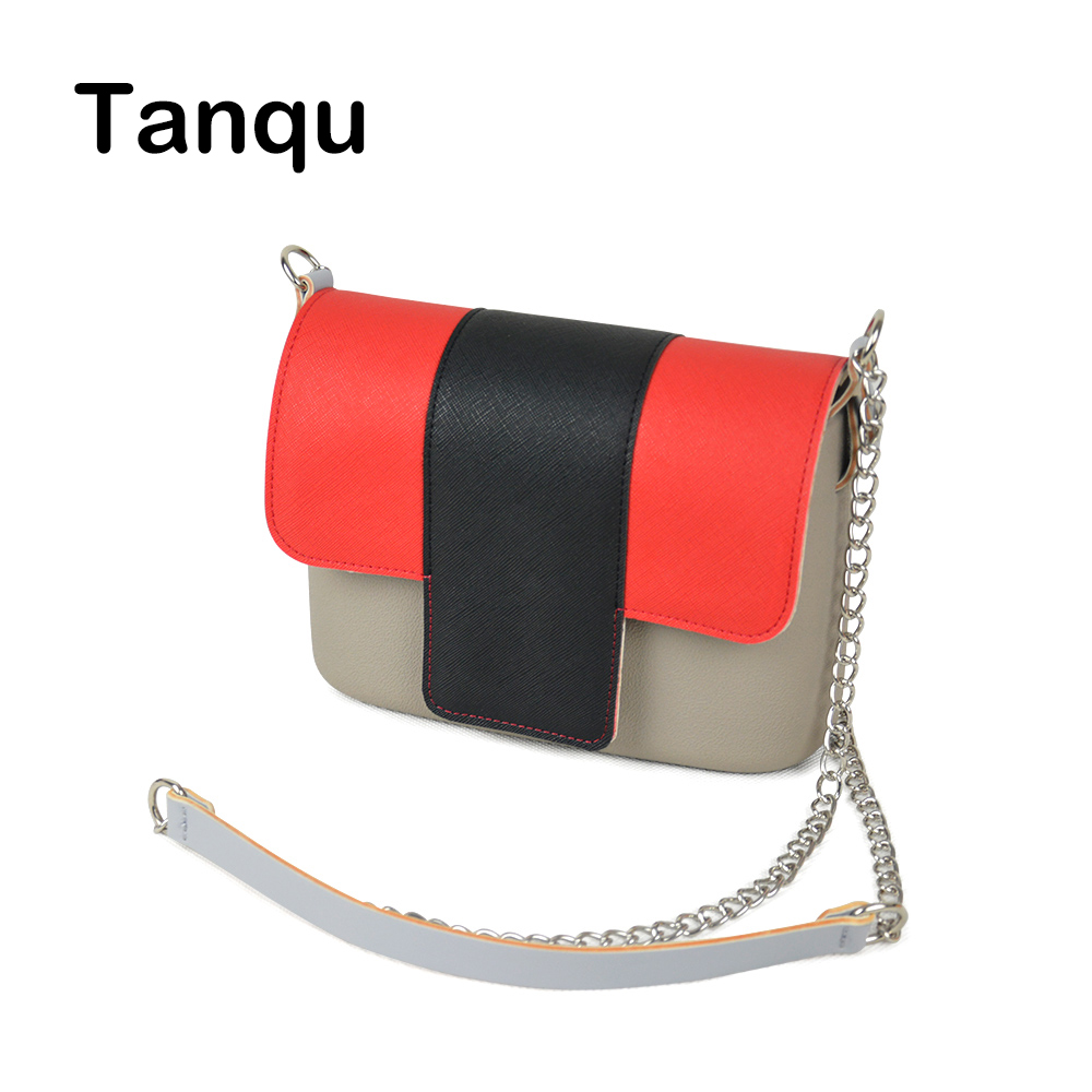 TANQU Colorful Obag Opocket Style EVA Pocket Plus Contrast Color Flap Magnetic Lock Fastener Long Strap Chain with Clip Closure tqskk 2017 new bikinis women swimsuit high waist bathing suit plus size swimwear push up bikini set vintage retro beach wear xxl