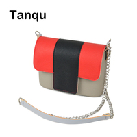 TANQU Colorful Obag Opocket Style EVA Pocket Plus Contrast Color Flap Magnetic Lock Fastener Long Strap Chain with Clip Closure