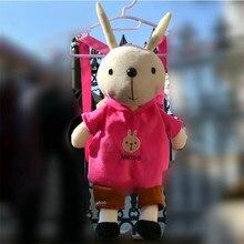 Metoo Children School Bags Lovely 56cm Stuffed Animal Metoo Rabbit Plush Backpack Toys for Kindergarten Brithday Gifts Free Ship