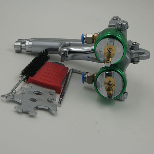 SAT1189 polyurethane foam two double nozzle spray gun airless spray chrome used car paint booth