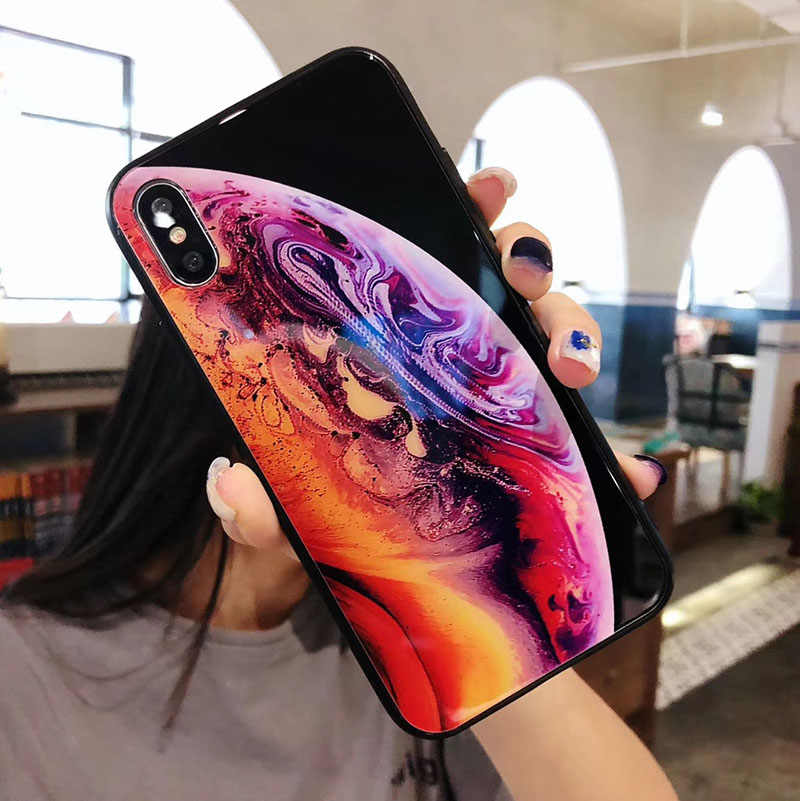 ... New For iPhone X XS Max XR Wallpaper Planet Tempered Glass Case Fundas  for iPhone 8 ... 9692c22c2201
