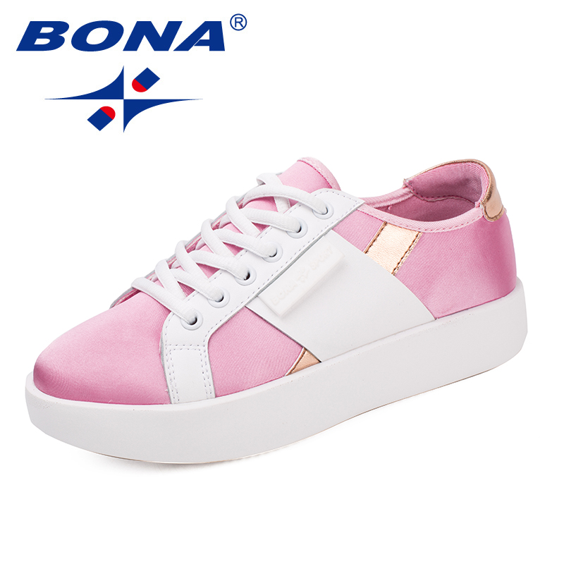 BONA New Arrival Fashion Style Women Casual Shoes Lace Up Women Flats Comfortable Lady Shoes Light Soft Fast Free Shipping 2018 new summer shoes women fashion women s shoes comfortable flat shoes gs533 1 new arrival flats shoes women flats