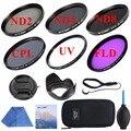 52/58/67mm UV CPL FLD Kit Filtro ND2 ND4 ND8 Fotografía conjunto de densidad neutra nd filtro polarizador para canon nikon dslr cámaras