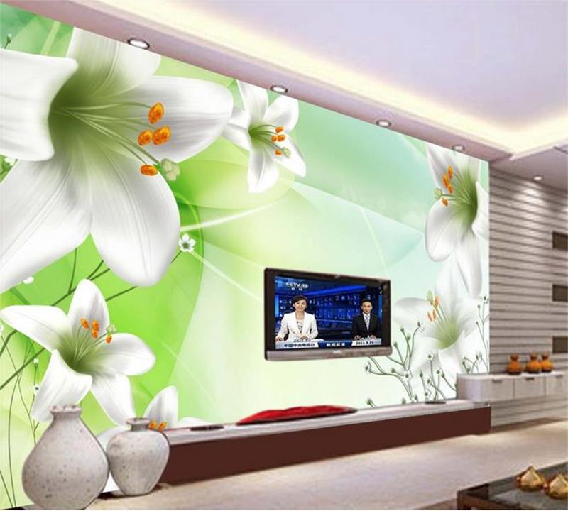 3d photo wallpaper custom living room mural fresh dream lily flowers photo picture TV sofa background wall non-woven wallpaper living room tv background wallpaper modern black and white flowers 3d home furnishings pure color non woven wallpaper n4