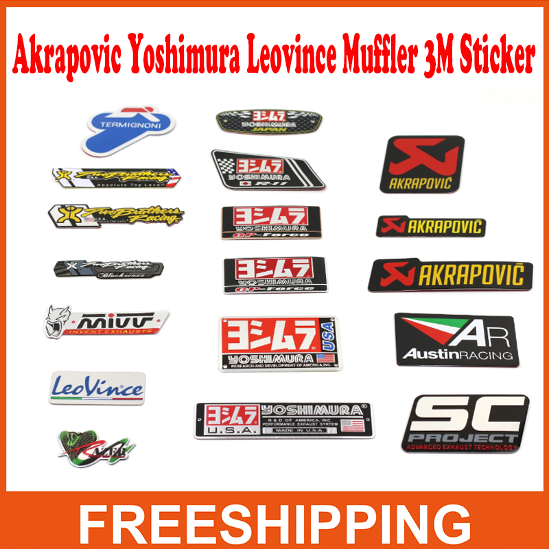 cbr twobrothers two brother auto Akrapovic Exhaust Muffler Decal Waterproof Car 3M yoshimura Sticker Motorcycle Decals Moto Gp