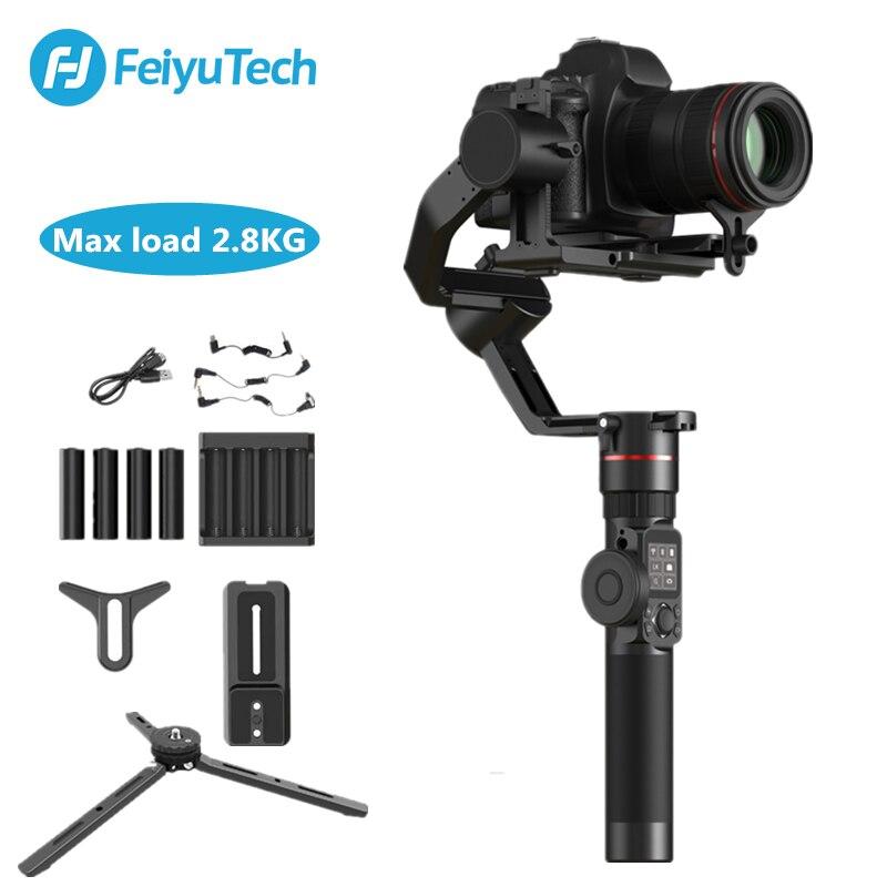 FeiyuTech Feiyu AK2000 3-Assi Della Macchina Fotografica Stabilizzatore Gimbal per Sony Canon 5D Panasonic GH5 Nikon 2.8 kg di Carico Utile