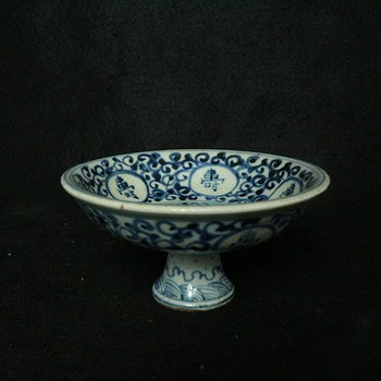 Rare Old Chinese MingDynasty(1368-1683)Blue and white Porcelain tall bowl, best Home Decorationsm Free shipping