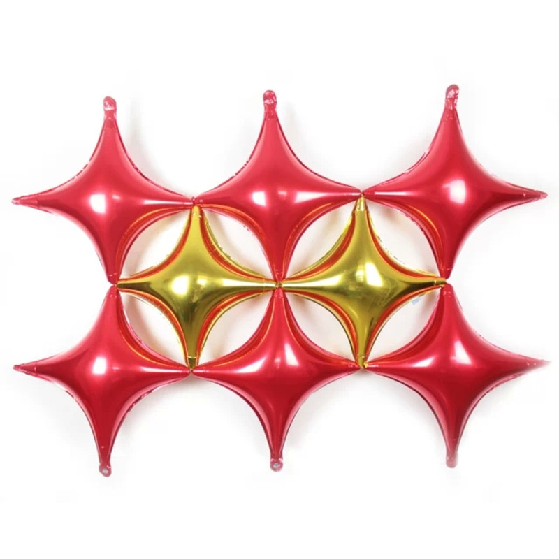 Multicolor four corners star foil balloons party for 7 star balloon decoration