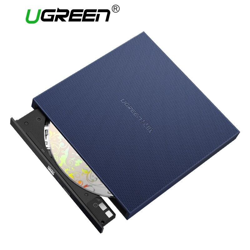 Ugreen USB Drive Óptico Externo USB 2.0 CD/DVD-ROM Combo DVD RW ROM Burner para Dell Lenovo Laptop Windows/Mac os USB Drive de DVD