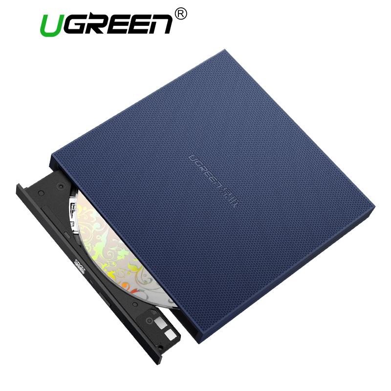 Ugreen USB Optical Drive External USB 2.0 CD/DVD-ROM Combo DVD RW ROM Burner for Dell Lenovo Laptop Windows/Mac OS USB DVD Drive usb ide laptop notebook cd dvd rw burner rom drive external case enclosure no17