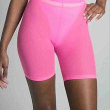 Women Summer Sexy Sheer Solid Shorts HOT Elastic High Waist Skinny