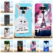 For LG V50 ThinQ 5G Case Soft TPU Silicone LM-V500N LM-V500EM Cover Cute Patterned Funda