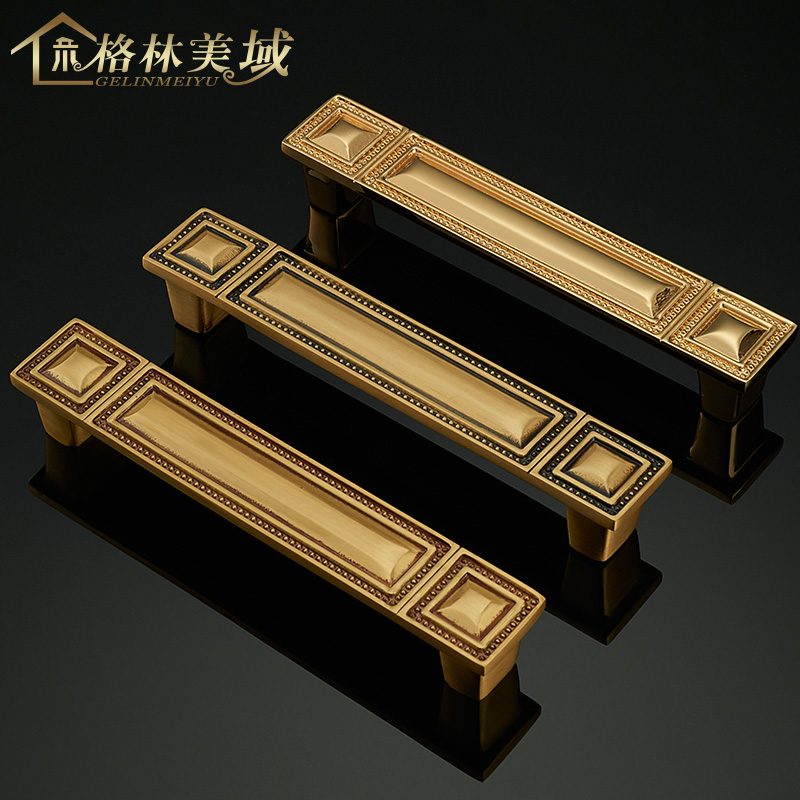 Chinese pure copper handle black cabinet full copper European style door handle wardrobe drawer chinese pure copper handle black cabinet full copper european style door handle wardrobe drawer