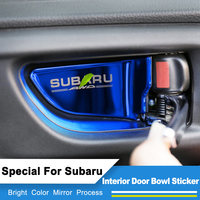 Special For Subaru Forester Legacy Outback XV Impreza STI 4pcs Set Color Stainless Steel Car Door