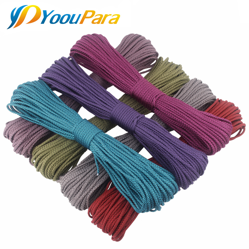 YoouPara 252 Colors Paracord 550 Paracord Rope Cuerda Escalada Mil Spec 7Strand Paracorde Outdoor Campling Survival Kit 100FT