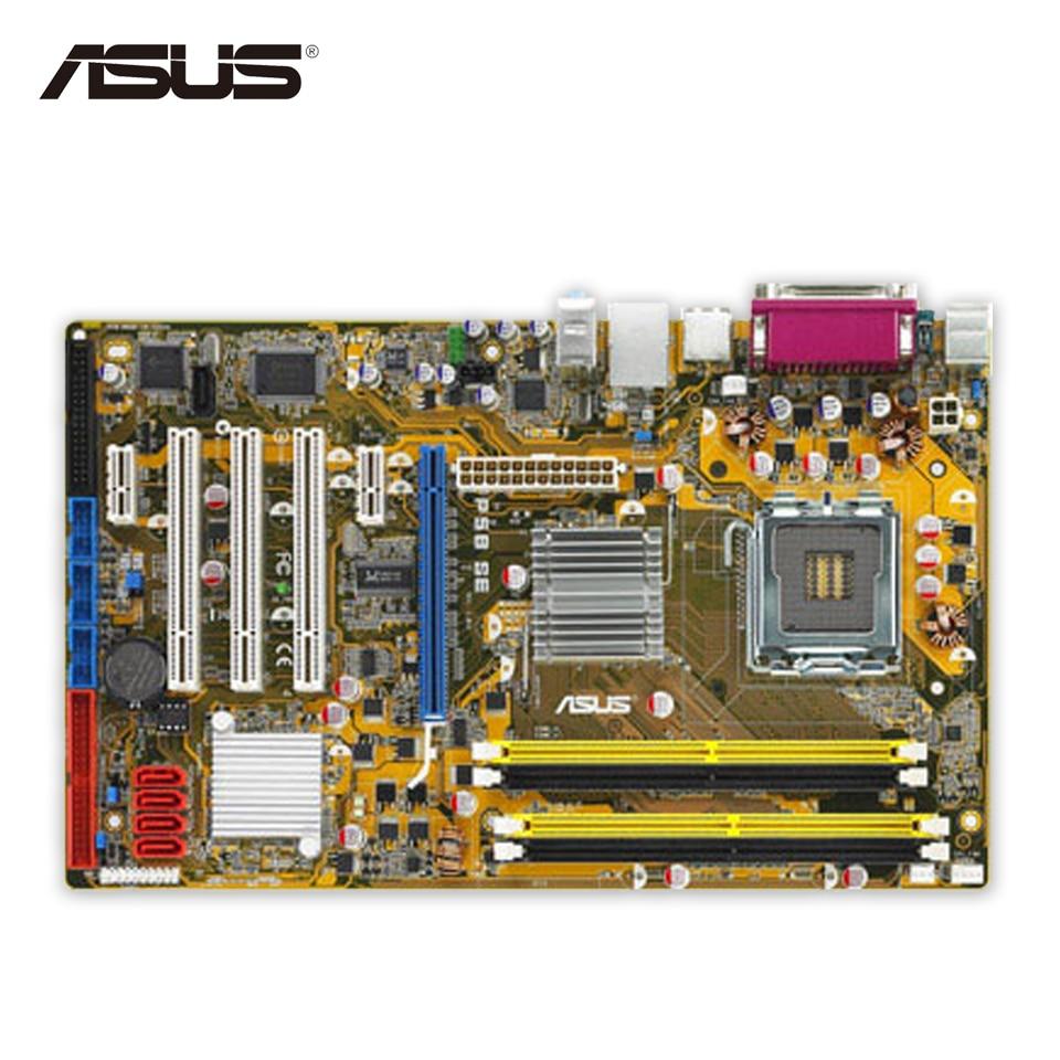 Asus P5B SE Original Used Desktop Motherboard P965 Socket LGA 775 DDR2 8G SATA2 ATX asus original motherboard g31m s2l g31 ddr2 lga 775 motherboard