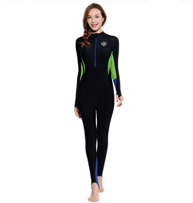 Mulheres Quente Tecido Protetor Solar Jellyfish buceo Mergulho Scuba Diving Suit One-piece Wetsuit roupa feminina Swimwear Maiô Corpo image
