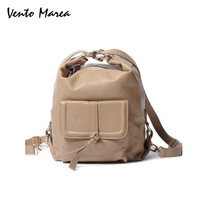 Genuine Leather Backpack Multifunction Female Black Korean Backpack For Girl Cowhide Mochilas Femininas Shoulder Bag Vento