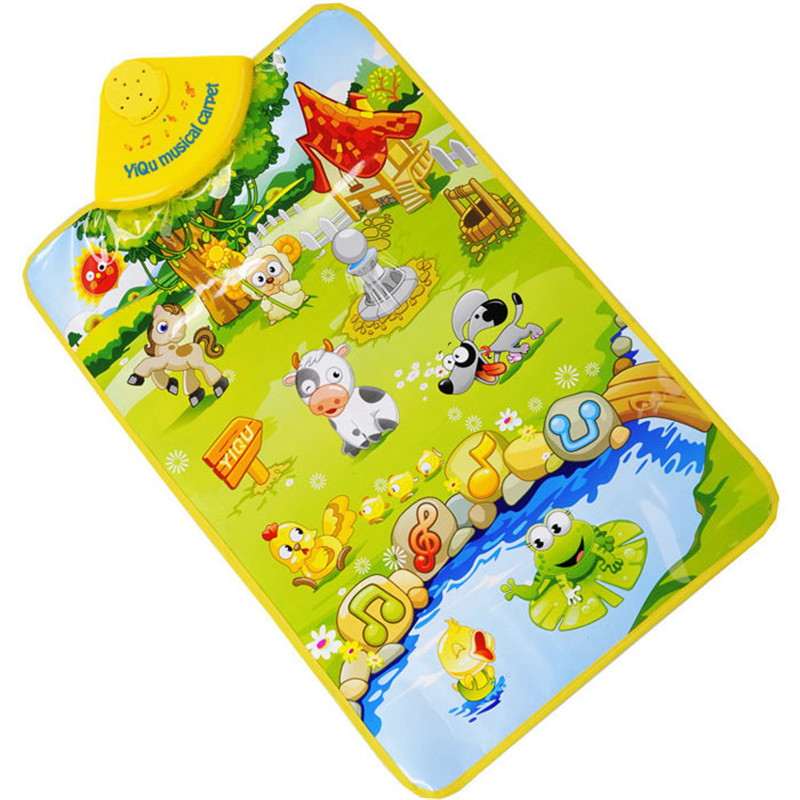 Education TOY Music Touch Play Kids Baby Farm Animal Musical Music Touch Play Singing Gym Carpet Mat Toy Gift Levert Dropship
