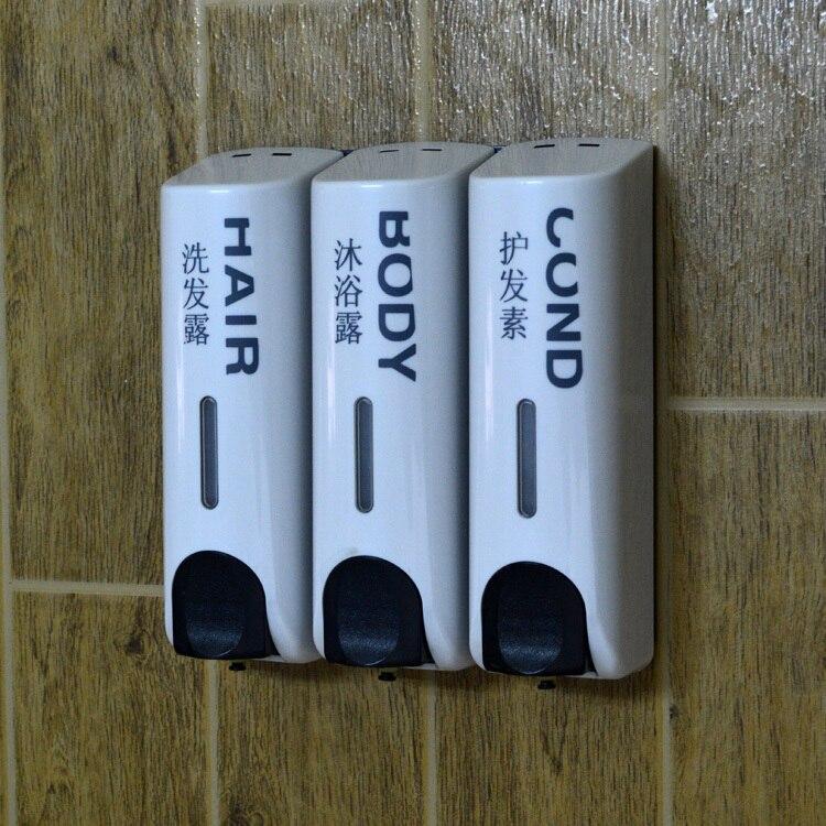 Distributeur de savon de qualité boîte à savon manuel désinfectant pour les mains bouteille distributeur de savon shampooing bain liquide boîte mur accessoires de salle de bain