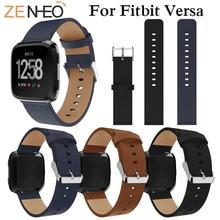 Replacement WatchBand Sport PU Leather Wrist Watchband For Fitbit Versa Strap Bracelet Smart Watch Wristband