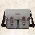 14 inch Laptop Bag Retro Business Travel Satchels Multifunction Canvas Handbag Shoulder Crossbody Messenger Pouch High Quality