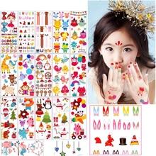 MYHOESWD 30 pieces/lot Cartoon Unicorn Tattoo For Kids Children Tatouage Temporaire Body Art Waterproof Temporary Tattoo Sticker