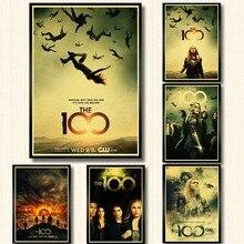 Vintage poster Serie TV Il 100 poster decorazione della parete di carta  kraft stampa di arte della parete pittura retro poster d. 21f51072856a