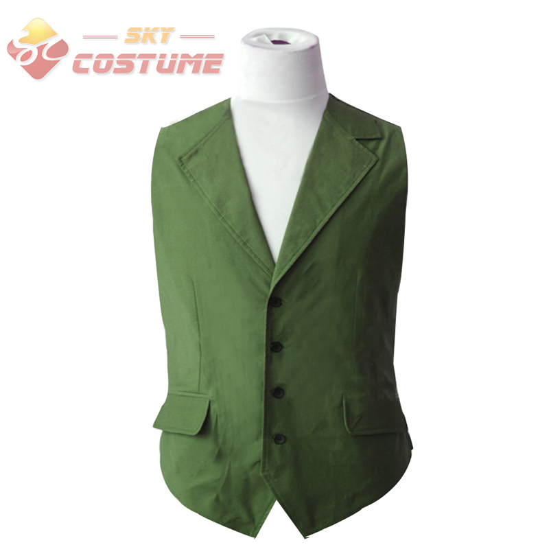 Hot Sale Batman Dark Knight Joker Hexagon Adult Men Shirt Green Vest Halloween Movie Cosplay Costume New Arrival