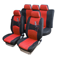 Auto Care Top Quality Gecko Embroidery 9pcs Car Seat Cover Universal Fit Blue Red Gray 3