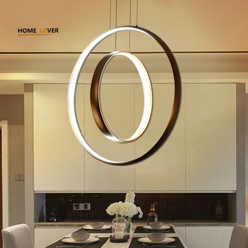 Modern pendant LED lights Dimming Circle Rings Golden aluminum body LED Lighting ceiling Lamp fixtures for living room dining ...