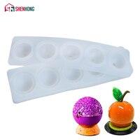 SHENHONG Silicone 3D Bóng Hình Cầu Khuôn Bánh Khuôn Bánh Jelly Moule Cụ Baking TỰ LÀM Thiết Kế Cookie Muffin