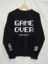 Game Over continue Sweatshirts women Top Tumblr tops Fashion Funny Text Slogan Dope Jumper tee graphic cool casual pullovers(China)