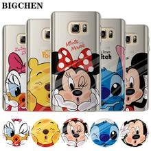 Caso Mickey Minnie Para Coque Samsung Galaxy Grande Prime S4 S5 S6 S7 Borda S8 Mais Nota 8 J2 J3 J5 J7 A3 A5 2016 2015 2017 Tampa