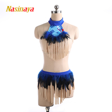 Aerial Yoga Leotards Pole Dancing Performance Clothing Dance Costume Artistic Gymnastics Training Adult Girl blue