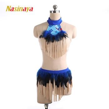 Aerial Yoga Leotards Pole Dancing Performance Clothing Dance Costume Artistic Gymnastics Training Adult Girl blue