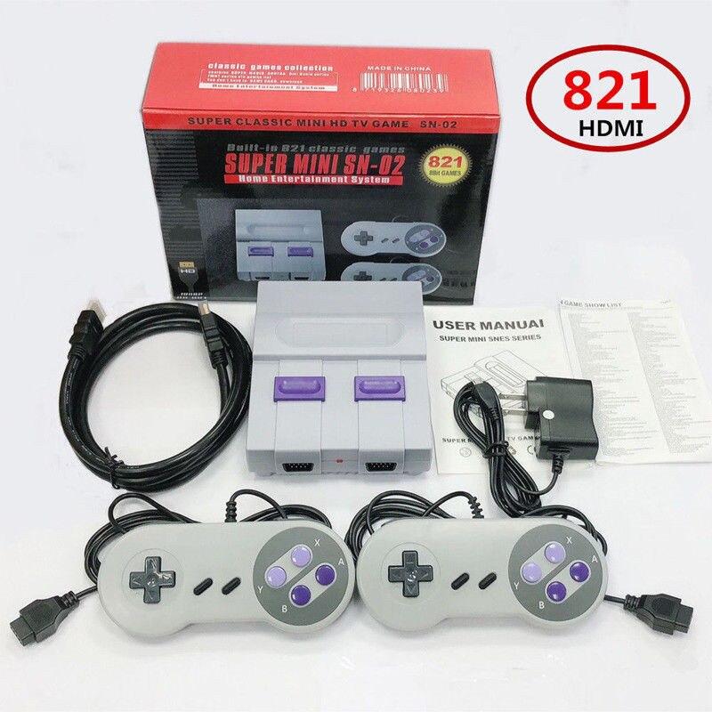 Sortie HDMI rétro classique lecteur de jeu portable famille TV console de jeu vidéo enfance intégré 821 jeux sortie HDMI mini Console