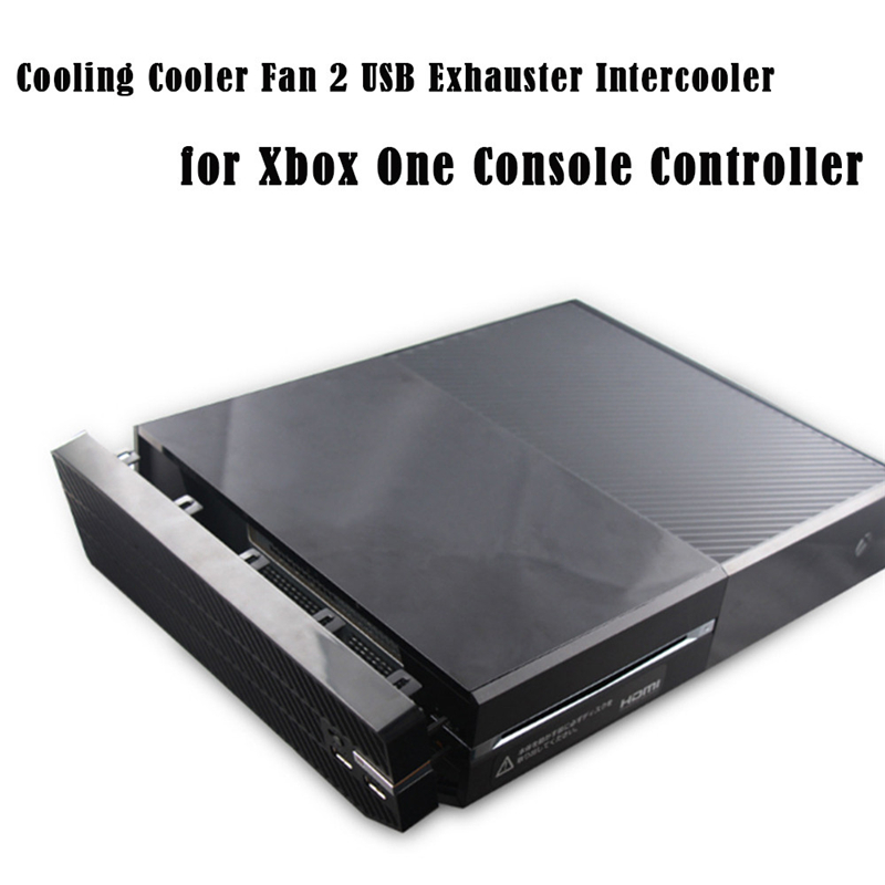 Cooling Cooler Fan 2 USB Exhauster Intercooler for Xbox One Console Controller  Futural Digital jiu7 dual cooling fan controller charging docking station stand for xbox one black