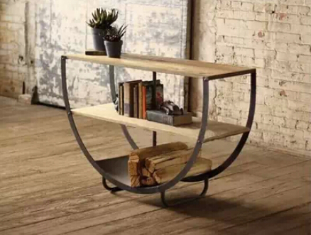 Captivating French Modern Wrought Iron Furniture Semicircle American Country To Do The  Old Retro Shelving Bookcase Shelf