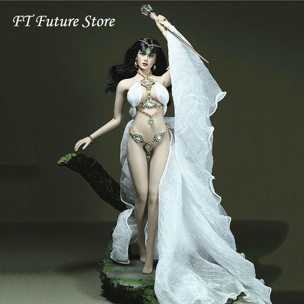 Collectible Custom Made 1/6 Sexy Female White Goddess Dress Clothes Cane Accessories Model For 12 Big Bust BodyCollectible Custom Made 1/6 Sexy Female White Goddess Dress Clothes Cane Accessories Model For 12 Big Bust Body