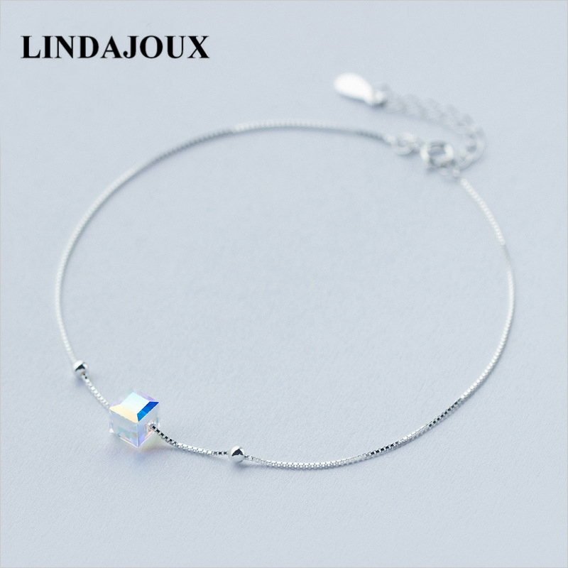 sapphire bracelets flowers ankle image silver sterling products bracelet real created mo anklet product