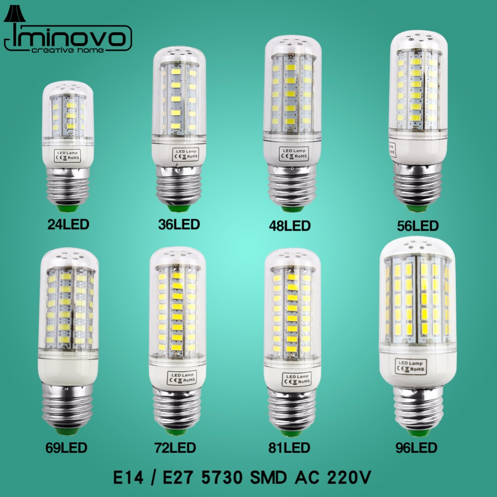 LED Bulb E27 Lamp E14 Light Lampada SMD5730 Corn Spotlight Bombillas 220V Chandelier Candle CFL Ampoule For Home Decoration enwye e14 led candle energy crystal lamp saving lamp light bulb home lighting decoration led lamp 5w 7w 220v 230v 240v smd2835