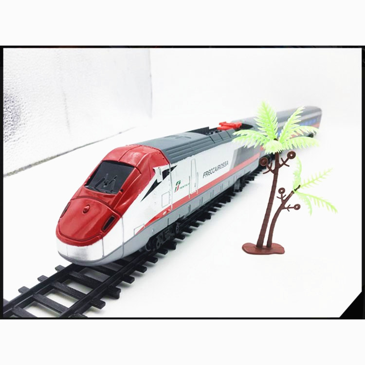 No.Harmony Electric Railway train Railcar Simulation High-speed Train Model with Tracks light music Enlighten Toys for Children