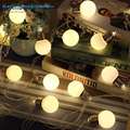 LED G45 Globe Festoon Party Ball string lamps Connectable Plug-in 5M 20LED string bulb lights Christmas Lights Garland Led