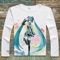 Japan Anime VOCALOID2  T-shirts Snow Hatsune Miku Printed Fancy T Shirt Long Sleeve Tees O-Neck Kagamine Rin/Ren Tops