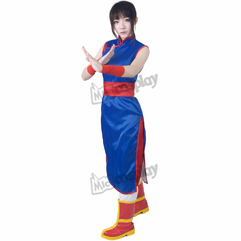 Anime Dragon Ball Chi Chi Cosplay Kostyme Halloween Fest Klær