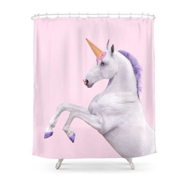 UNICORN Shower Curtain Customized Size