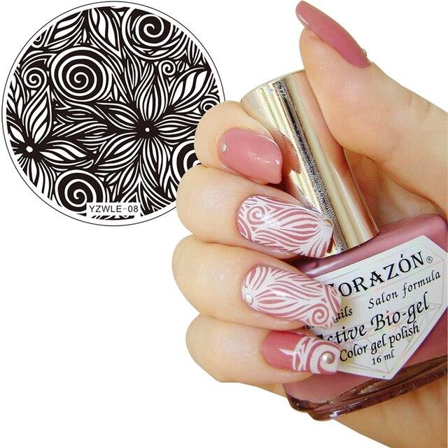 Kalejdoskop Wzory Nail Art Stamp Szablon Płyta Obraz Ywk Oryginalny
