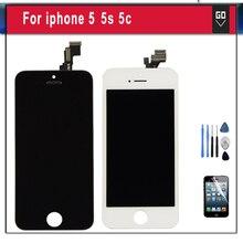 A + + + Para iphone5 serie Sin Píxeles Muertos LCD pantalla de Visualización y asamblea del digitizador del tacto para iphone 5 5s 5c se pantalla lcd