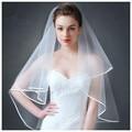 MDBRIDAL Marfim Tule Véu Do Casamento com Pente Véus de Noiva